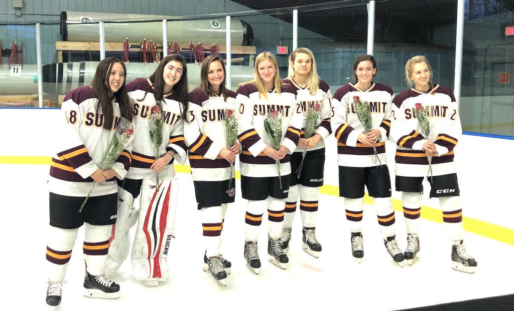 Summit H S Girls Ice Hockey Sends Seniors Off In Style Slams